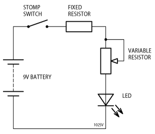 LED Variable Series Resistor Schematic