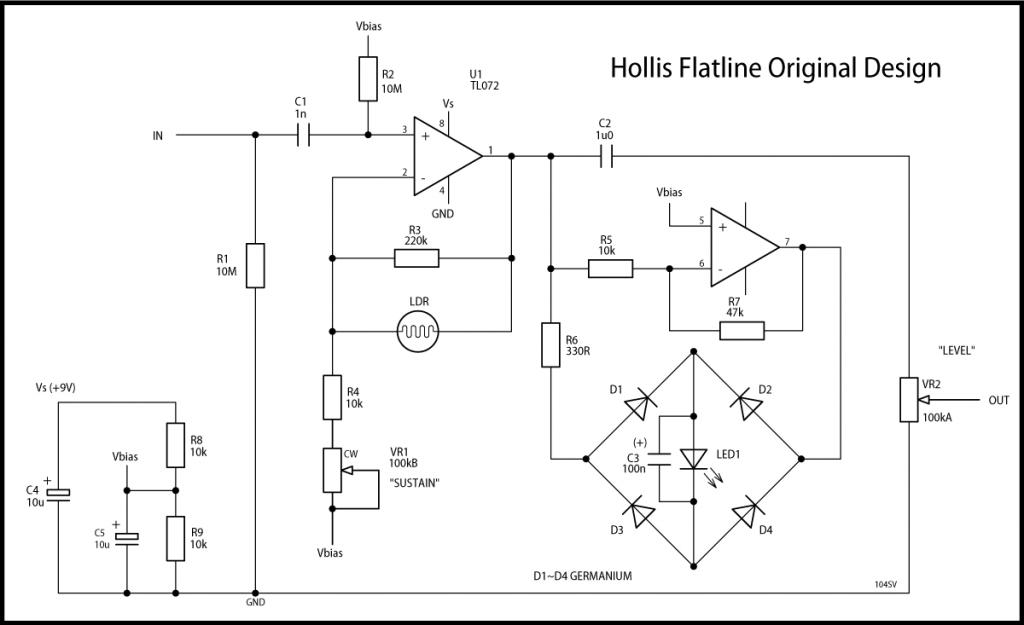 Hollis Flatline Original Schematic