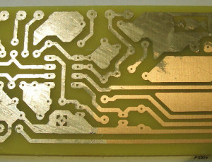 Partially finished and cleaned PCB