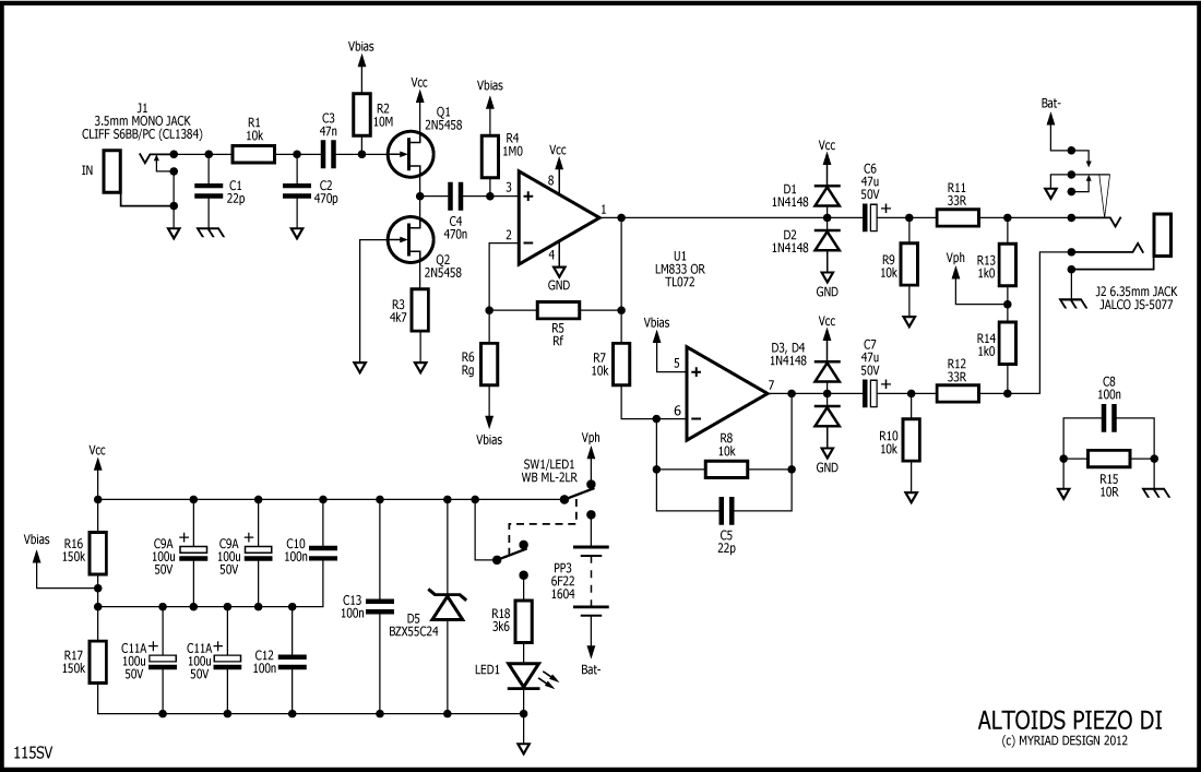 piezo direct box schematics