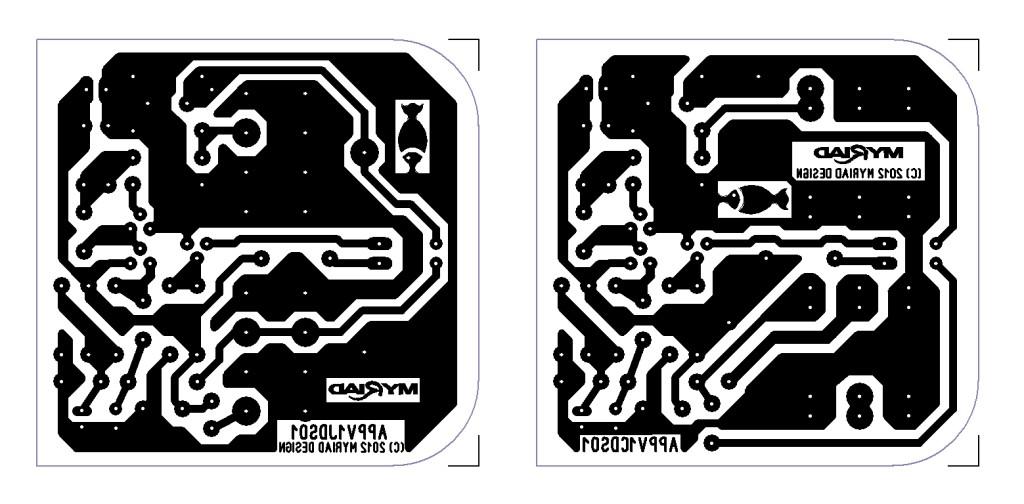 Altoids Piezo Pre PCB foil