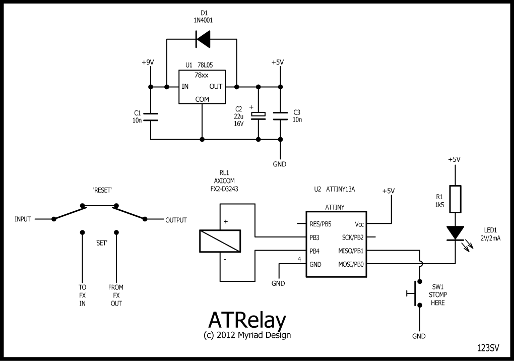 true bypass latching relay stompville atrelay schematic