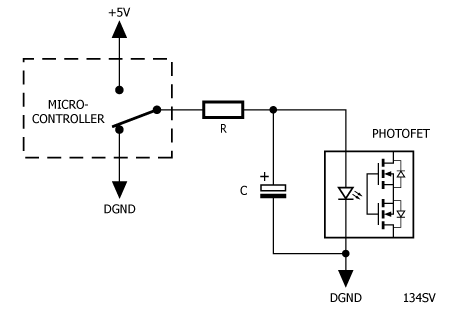 RC Led drive schematic